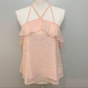 Hollister | Pink Strappy Halter Flowy Top